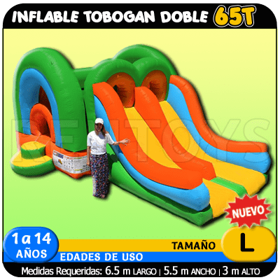 Inflable Tobogan doble 65T