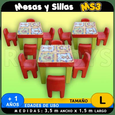 Mesas y Sillas MS3