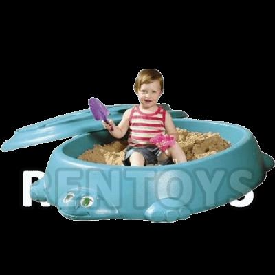 Tortuga arenero con tapa Rotoys